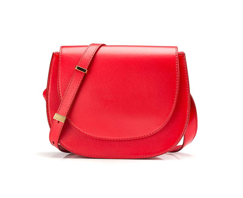 single red handbag