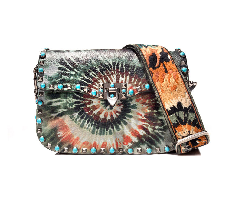 valentino tie-dye leather bag
